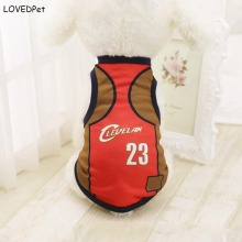 2017 Summer Dog Clothes Pets Coat Puppy Dogs Clothing T-shirts nbaed Sport Pet Vest cloth basketball jersey cloth Wholesale(China)