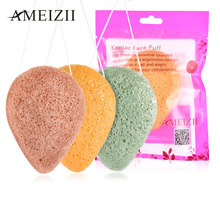 AMEIZII 1pcs Face Cleanse Washing Sponge Natural Konjac Green Pink White Puff Face Wash Cleansing Facial Care Makeup Tools(China)