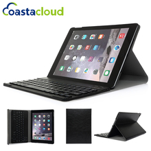 Rechargable Wireless Bluetooth  Keyboard Case Leather Folio Smart Fully Protect Case Cover Stand For Apple iPad Air 2