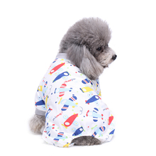 Dog Puppy Cat Airplane Plane Print Soft Jumpsuit Pajamas Warm Coat Pet Clothes(China)