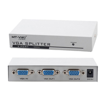 2 Port VGA Splitter 150MHz HD 1920X1440 KVM Switch Video Signal Monitor Amplifier Black 25 Meters Stackable Steel Housing