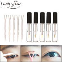 Professional 5 Pieces 6ML Double Eyelid Glue False Eyelash Extension Glue Eye Lash Adhesive Gel Eyes Bigger Makeup Tool(China)