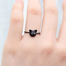 2017 New  Arrival rings Cute Cat Head Finger Rings,Fashion Jewelry  simple hot sale women girl birthday gifts