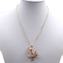 Buy New Arrival Necklace Auspicious Lucky Frog Crystal Sweater Chain Long Chain Animal Pendant Necklace Jewelry for $1.38 in AliExpress store