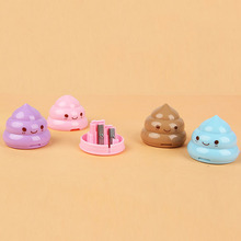 1pcs Funny Emoji Pencil Sharpener Double Holes Stationery Student Cute Pencil Sharpeners Kids Gift School Supplies