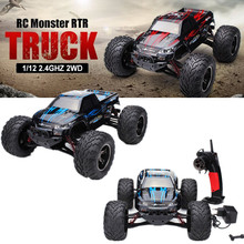 Wholesale 9115 RC Car 1/12 2.4GHz 2WD Brushed RC Remote Control Monster Truck RTR(China)