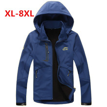 plus size 8XL 7XL 6XL Spring fall Jackets Men Coats outwear Casual Hooded Mens Windbreaker Windproof Male Jacket