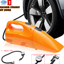 2 in 1 150W 12V Strong Suction Car Vacuum Cleaner Dry & Wet Portable Handheld Air Inflating Pump