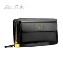 Men Wallet Luxury High capacity Multi-bit Casual Clutch Bags Male Monederos Purse Leather Portemonne carteira masculina(China)