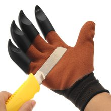 Safurance Garden Gloves for Digging & Planting with 4 ABS Plastic Claws Durable Waterproof Safety Glove