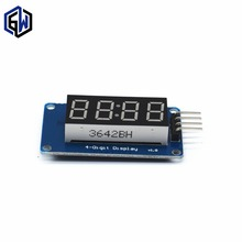 10pcs/lot 4 Bits Digital Tube LED Display Module With Clock Display TM1637 for Raspberry PI(China)