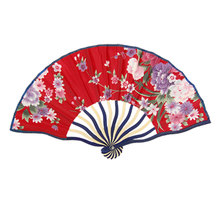 Uxcell Bent Frame Multicolor Peony Pattern Foldable Nylon Hand Fan Red . | beige | blue | green | multi | pink | purple