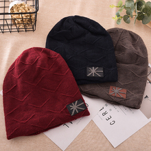 Men Autumn Winter Beanie Casual Warm Solid Color Hip Hop Knitted Hat Xmas Gift(China)