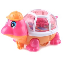 2018 New Arrival Pull Glow Toys Running And Glowing Little Turtle Toys For Children(China)