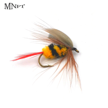 MNFT 10PCS Or 6PCS 10#  Mayfly Lifelike Bumble Bee Fly Fishing Trout Artificial Fishing Bait Bass Lure Three Packaging Options
