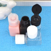 Mini Plastic Essential Oil Bottle 10ML Empty Square Cream Bottles Cosmetic Sample Packaging Containers With Flip Cap For Travel