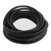 UXCELL 10Mm X 8Mm Dia Flexible Bellows Hose Corrugated Conduit Cable Tube Tubing Pipe 29.5Ft 9M Long Black corrugated | tube(China)