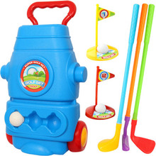 New Children's Indoor And Outdoor Fitness Ball Simulation Golf Club Set High Quality Toys For Family Fun(China)