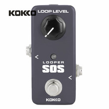KOKKO FLP2 LOOP Looper Bass Guitar Effect Pedal 5 Minutes Recording Time Save and Recovery Overdub True Bypass Guitar Effects(China)