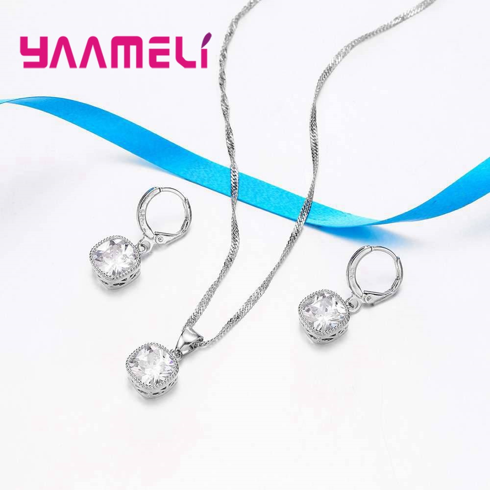 YAAMELI-High-End-Stylish-Women-Necklace-And-Earrings-925-Sterling-Silver-Jewelry-Set-With-Simple-Square (3)