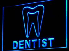 i825 Dentist Tooth Hospital LED Neon Light Sign On/Off Switch 7 Colors 4 Sizes