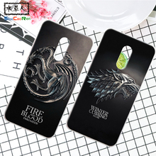 ShuiCaoRen Silicone Case For Xiaomi Redmi Note 4 Retra Game of Thrones Cover Phone Coque Ice and Fire Fundas For Redmi Note 4X(China)