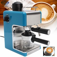 Automatic Coffee Machine Steam Type Espresso Cappuccino Latte Maker 5 Bar Mini Stainless Steel Coffee Maker 220V(China)