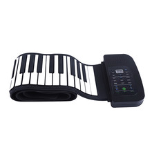 Flexible USB MIDI Roll Up Piano Kit With 88 Keys Electronic Hand Roll Up Piano Keyboard For Children Toy Musical Instrument(China)