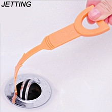 JETTING 1PCS 50CM  Removal Tool Sewer Tub Clean Hook Anti Clogging Tool Kitchen Bathroom Pipe Drain Cleaner Dredge Hair Cleaning