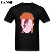 XS-3XL Rock In Memory David Bowie 2017 Latest Tshirts Male 100% Cotton Short Sleeve Men Tshirt Guys Tops Tee(China)