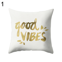 Art Font Letter Design Pillow Case Sofa Throw Cushion Cover Pillowcase Decor(China)