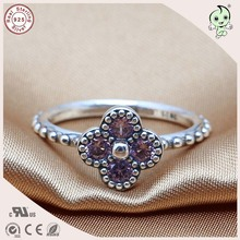 N products New Arrival Fitting Original Famous Brand Delicate 100% 925 Sterling Silver Flower Ring