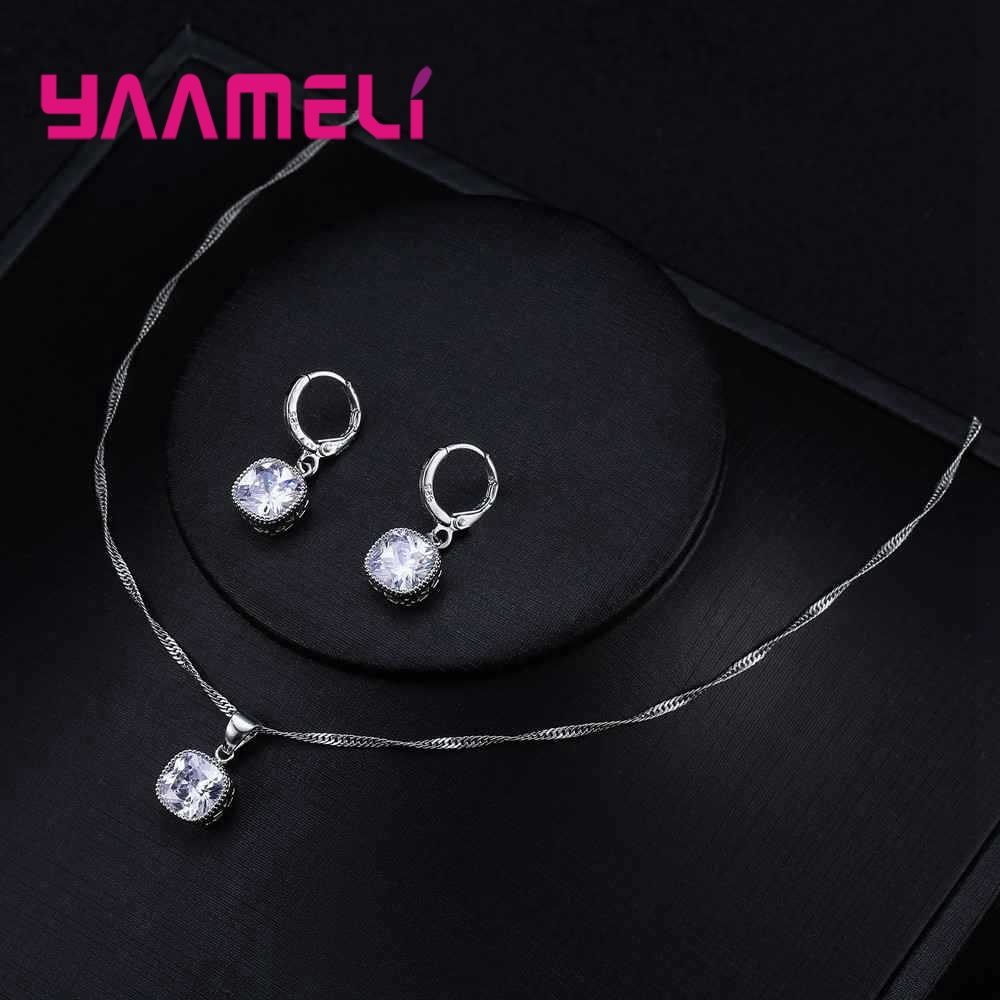 YAAMELI-High-End-Stylish-Women-Necklace-And-Earrings-925-Sterling-Silver-Jewelry-Set-With-Simple-Square (1)