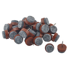 Felt Pad Antiskid Furniture Table Leg Floor Diy Nail Protectors Brown 15Mm Dia 30Pcs felt | floor | protector