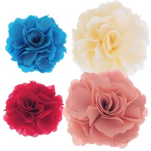 MJARTORIA Fashion Jewelry 1PC Blooming Flower Brooch Hair Pin Clip Accessory Decoration 7x7cm Brooches For Women