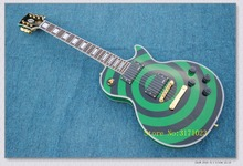 free shipping Custom Shop Zakk Wylde Electric Guitar LP Custom /green and black color/guitar china(China)