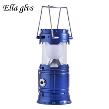 Solar Charger Camping Lantern Lamp LED Outdoor Lighting Folding Camp Tent Lamp USB Rechargeable lantern Emergency Lamp