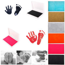 Newborn Baby Reusable Safe Craft Non-Toxic Handprint Footprint Inkpad Toddlers(China)