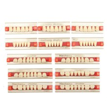 84PCS Acrylic Resin Denture Dental Teeth Upper Lower Shade G419 25 30 A2 Oral Care Whitening Tooth Model Dental Materials 2017