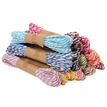 10meter DIY Handmade Material Wedding Birthday Party Supplies Home Decorations Colorful Paper Twine String 2mm(China)