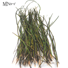 MNFT 1 Bag Natural Olive Green Peacock Feather Wire Fly Tying Material for Fly Fishing Lure Bait Nymphs Streamers Flies(China)
