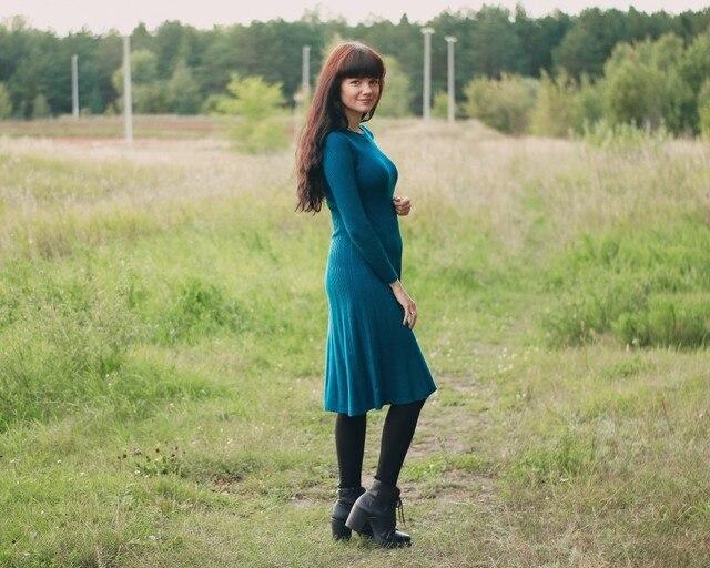 Трикотажное платье EZSSKJ - обзор