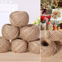 Thread Cord-Rope String Home-Decor-Accessories Linen Natural DIY 100m/Roll