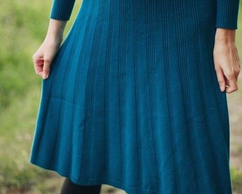 Трикотажное платье EZSSKJ - инструкция