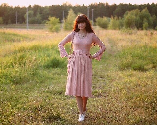 Чудесное трикотажное платье EZSSKJ - купить