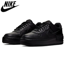 Skateboard Shoes Sports-Sneakers AF1 Air-Force 1-Shadow Black White Nike Triple Casual