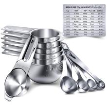 U-Taste 15PCS Stainless Steel Measuring Spoons Measuring Cups Metal Measuring Scoop Tool Set for Kitchen Baking Cooking Utensils