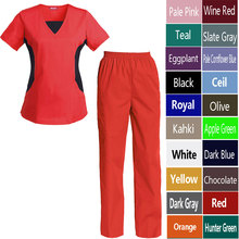 Women's Nursing Uniform Set Top and Pants