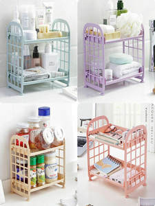 2-Tier Shelf-Holder Storage-Rack Bathroom-Accessories Kitchen Plastic Home Organization