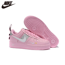 Black Shoes Sneakers AF1 Utility Pink LV8 White Air-Force-1 Women Original Skateboarding